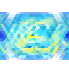 Vibrant blue and yellow seamless mosaic pattern vector