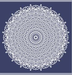 White oriental geometric ornament vector
