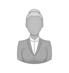 Businesswoman icon black monochrome style vector