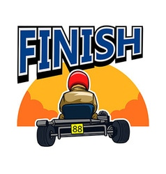 Finish gokart race vector