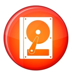 Hdd icon flat style vector