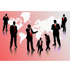 0214businessmen silhouettes vector