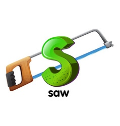 A letter s for saw vector