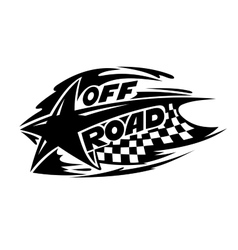 Off Road motor sport event icon vector image