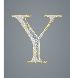 Abstract golden letter y vector