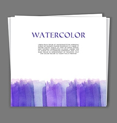 Card with Hand painted watercolor texture vector image