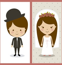 Wedding design vector