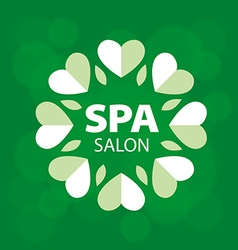 Logo with hearts for spa salon vector