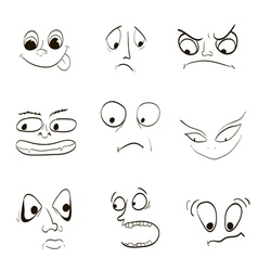 Image of emotions fear of the wrath of angry joy vector