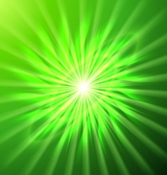 Bright space star in green vector