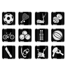 Sport equipment symbols vector