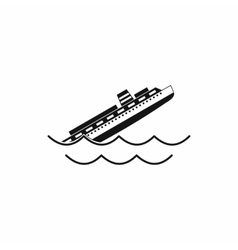 Sinking ship icon simple style vector