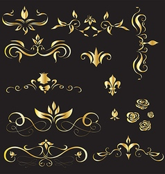 A set of vintage design elements vector