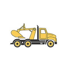 Digging Truck 380x400 vector image