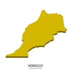 Isometric map of morocco detailed vector