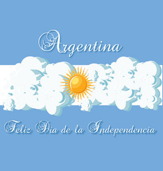 argentina happy independence day greeting card vector image vector image