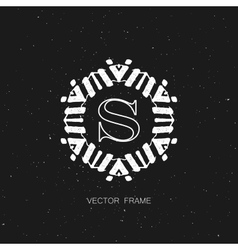 art-deco frame vector image
