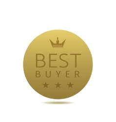 Best buyer label vector image vector image