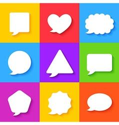 Blank Empty White Speech Bubbles Set vector image vector image