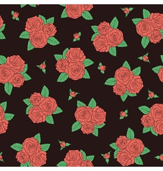 bouquets of roses Seamless pattern vector image vector image