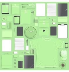 Branding mockup lime set vector