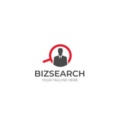 Businessman search logo template vector