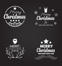 Christmas typography logo designs vector