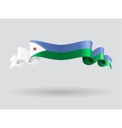 Djibouti wavy flag vector image vector image