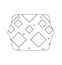 Edge quadrate with memphis graphic style vector