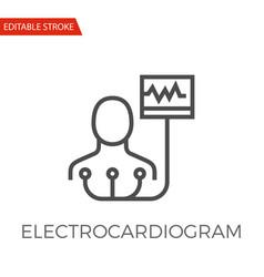 electrocardiogram icon vector image