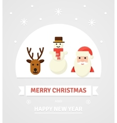 Greeting Christmas Card New Year characters - vector image vector image