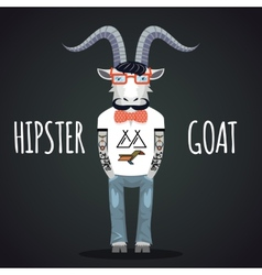 Hipster goat vector