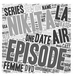 La femme nikita dvd review text background vector