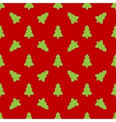 Pattern for wrapping paper green christmas tree vector