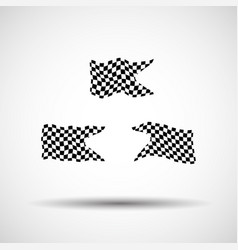 racing background set collection of 3 checkered vector image vector image