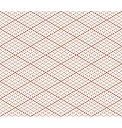 Red retro isometric seamless grid layout - thirty vector