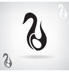 Stylized silhouette of a Swan vector image