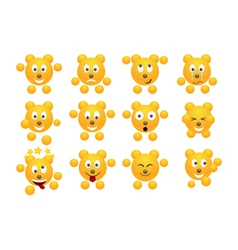 teddy icons vector image vector image