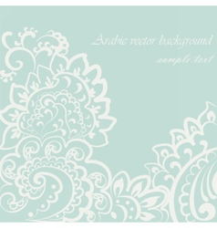 vintage lace ornament vector image