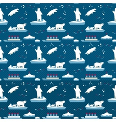 White bear seamless pattern vector
