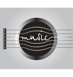 word music from the guitar strings vector image