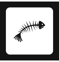 Fish bones icon simple style vector