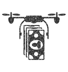 Drone banknotes payment grainy texture icon vector