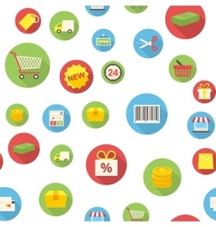 Seamless pattern with shopping icons vector image