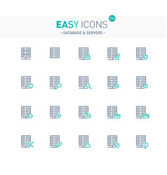 easy icons 21e database vector image