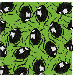 Bugs on green background vector