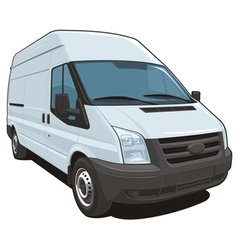 Commercial van vector image