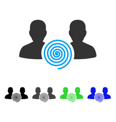 Hypnosis sect flat icon vector