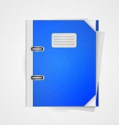 Blue folder vector