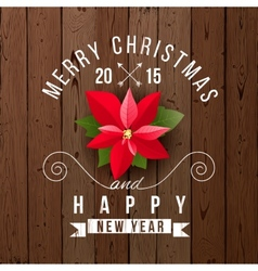 Christmas type design vector